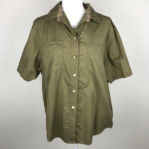 Vintage BURBERRY Prorsum Gold Button Up Shirt
